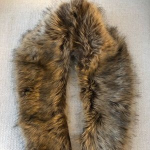Sole Society Faux Fur Stole - One Size
